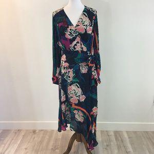 NWT Parker Floral Dress Asymmetrical hem Size SM